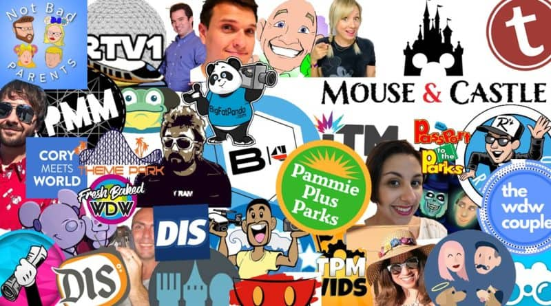 Disney Vlogger collage of logos | Mouse and Castle